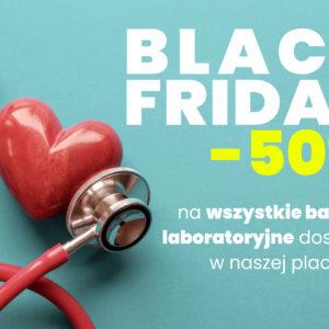 Z okazji Black Friday -50% na wszystkie badania laboratoryjne dostępne w ECM Lifeclinica. Zniżka obowiązuje od 29 listopada do końca grudnia!