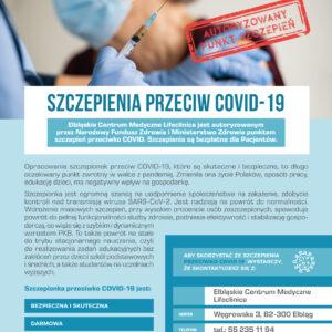 Autoryzowany punkt szczepień przeciwko COVID-19 w ECM Lifeclinica